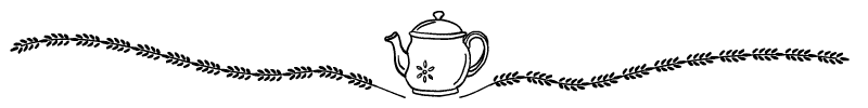 Section divider doodle of teapot