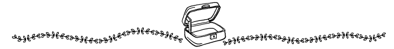 Section divider doodle of old fashioned suitcase