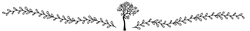Section divider doodle of tree