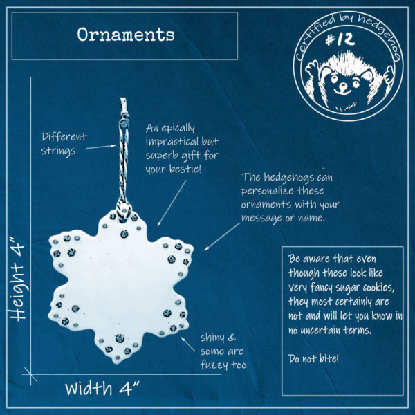 Blueprint of handmade star shaped ornament