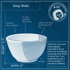 Blueprint of handmade soup bowl
