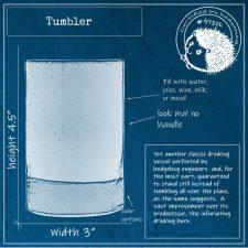 Blueprint of handmade tumbler