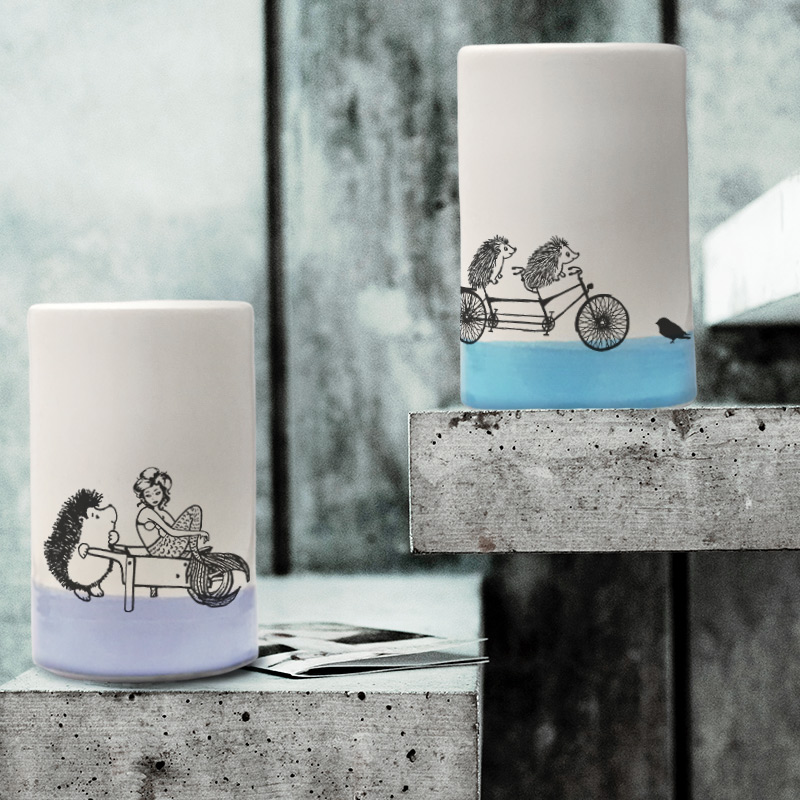 A classic Darn Pottery tumbler celebrating that time when Darnit went fishing and got caught up with a sophisticated Swedish mermaid instead. Lavender accent color